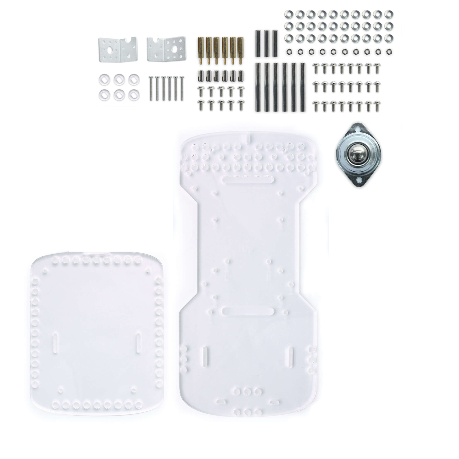 GoPiGo3 Clear Acrylic Body Replacement Parts